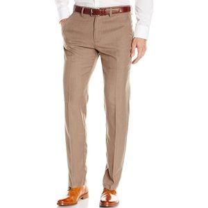 Men's Haggar Slim Fit Dress Slacks, Tan, 32x32
